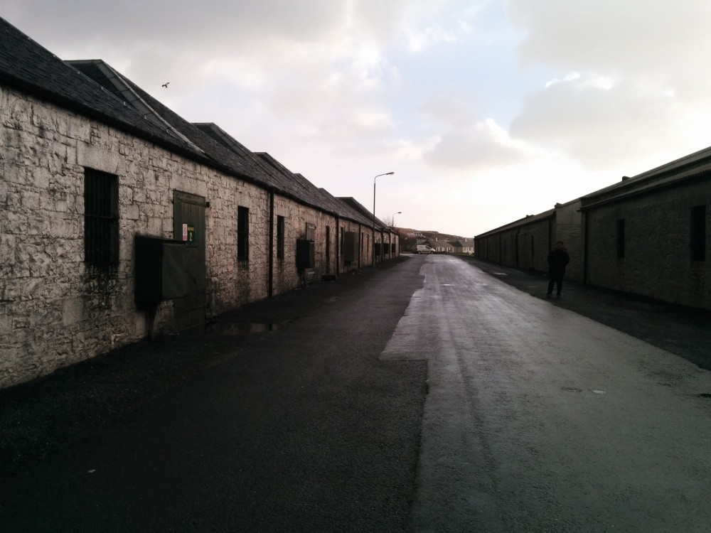Warehouses belong to Port Ellen, now used by Caol Ila, Lagavulin and even Kilchoman.