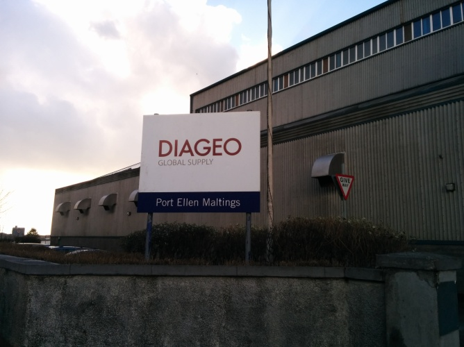Diageo's Port Ellen maltings facility