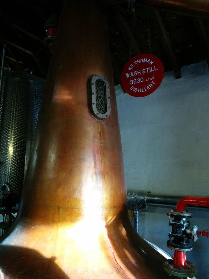 Kilchoman's wash still has a capacity of 3230 litres.