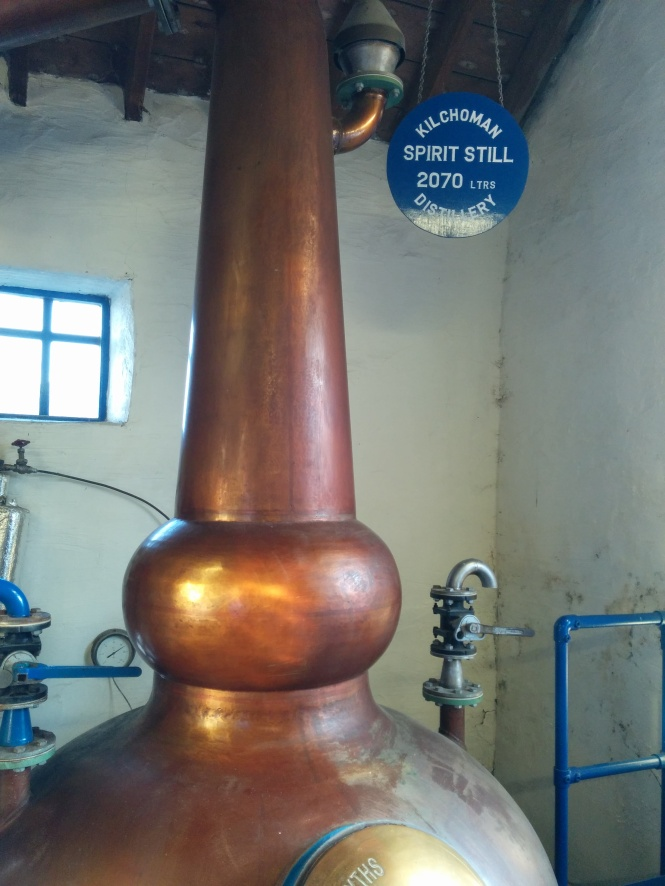 Kilchoman's spirit still further distills the spirit and has a capacity of 2070 litres.
