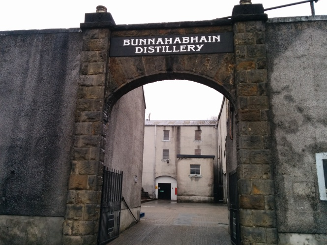 The entrance to the distillery.