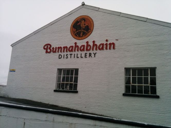 The distillery administration building which also houses the tasting room.