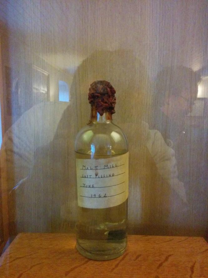 The only bottle of Malt Mill spirit left in the world.