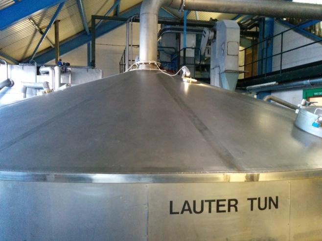 Laphroaig's 8.5 ton stainless steel mash tun.