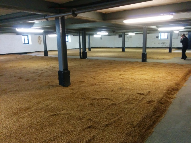 Bowmore is one of three Islay distilleries which retains a functioning maltings floor.