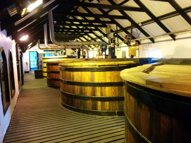 The washbacks at Bowmore.