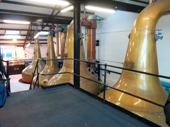 The wash stills at Bowmore.