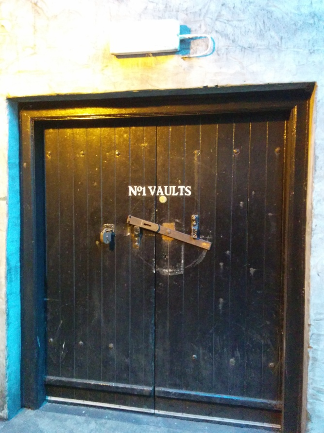 The door which leads into the No. 1 vaults.