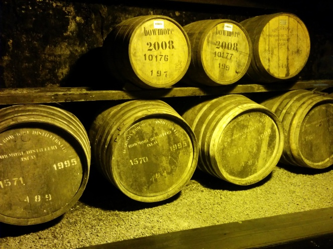 The cask on the top right dates back to 1965 and is the oldest cask left in the distillery.