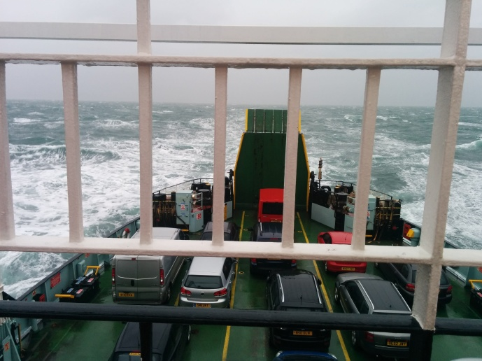 The view from aboard The CalMac Hebridean Isles ferry.