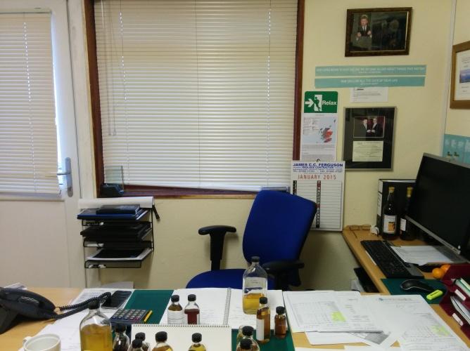 The desk of Mr Jim McEwan.