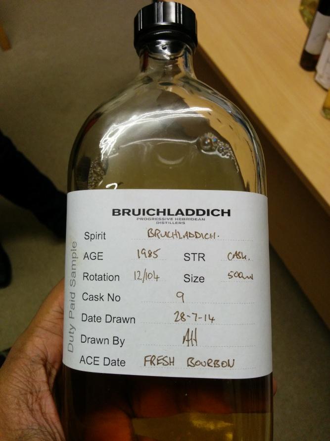 The sample bottle.