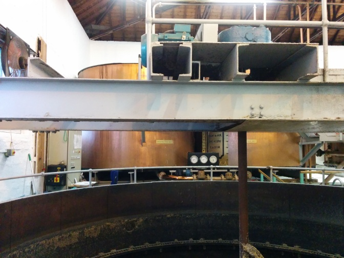 The water storage tanks which feed water of different temperatures into the mash tun.