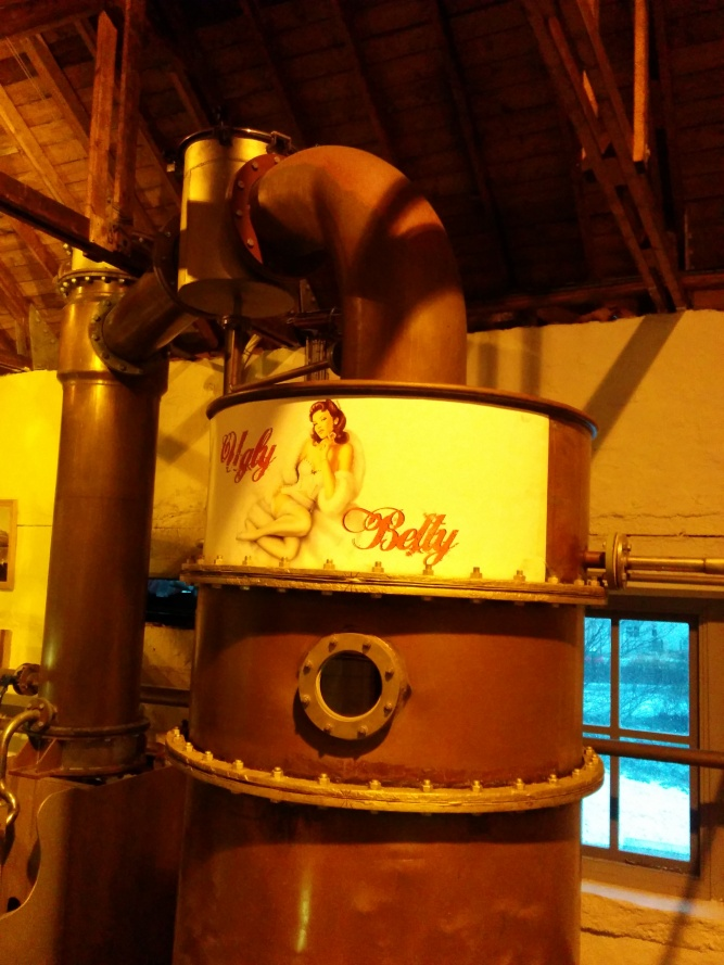 One of the only functioning Lomond stills in Scotland, currently being used by Bruichladdich to make The Botanist gin.