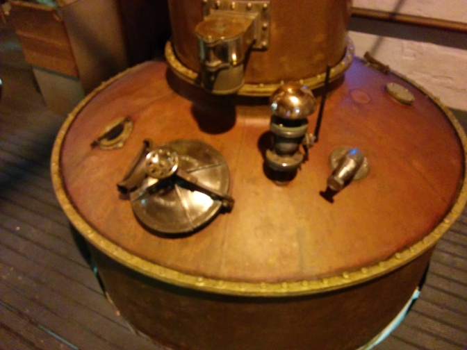 One of the stills at the distillery.