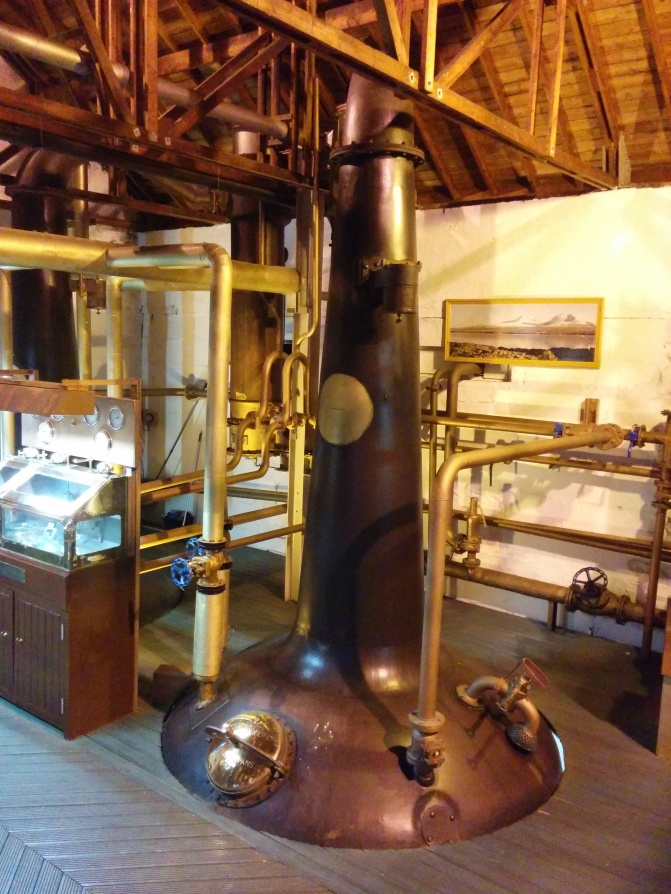 A better look at one of the stills at the distillery.