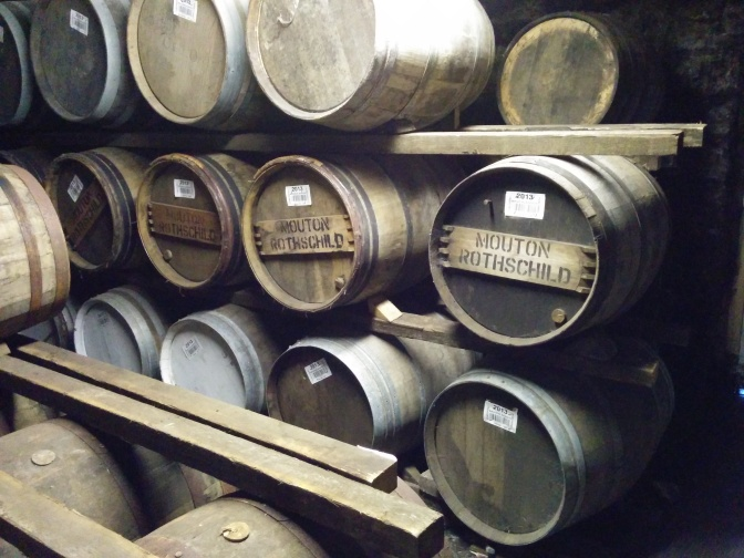 Ex-wine casks from some of the famous French vineyards!