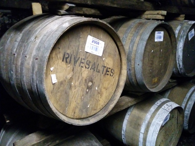 Casks from the Rivesaltes vineyards.