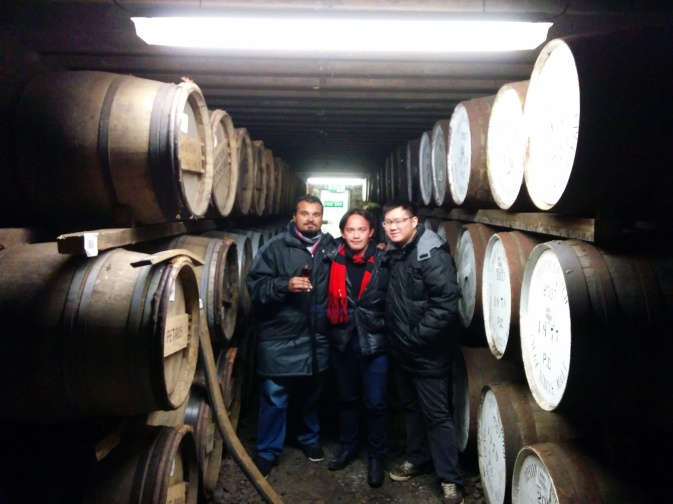 The three of us within the hallowed sanctum that is the Bruichladdich warehouse. Truly and unforgettable experience.