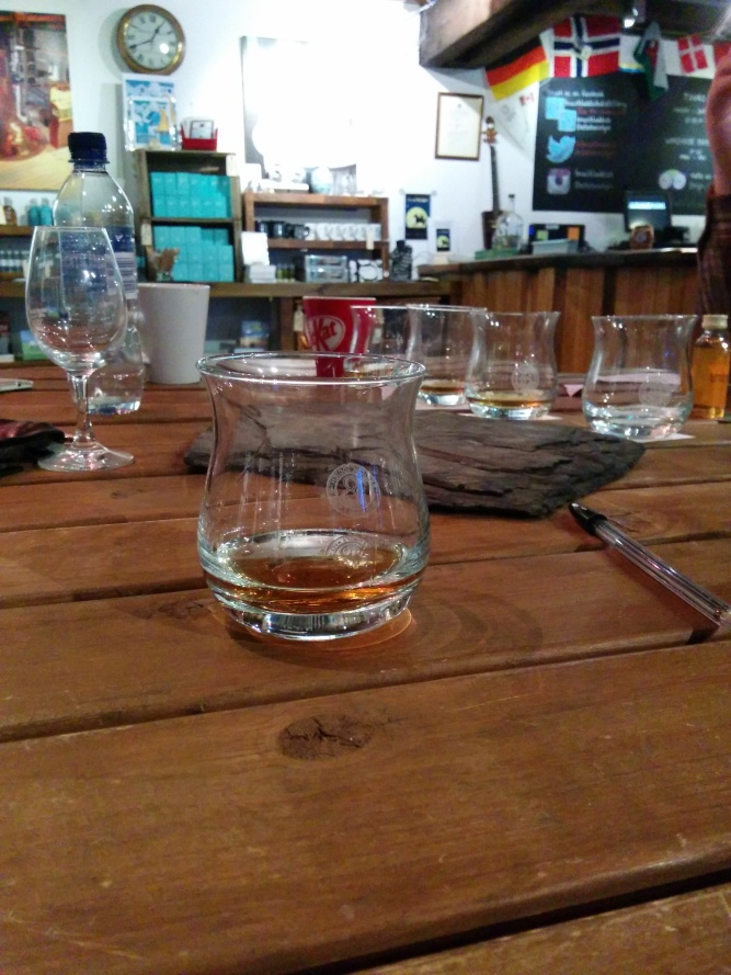 The four drams which made up the Cuvee Quiz.